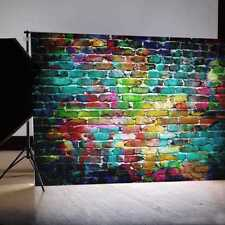Mohoo 7x5FT Colorful Brick Wall Silk Photography Backdrop For Studio Prop Photo