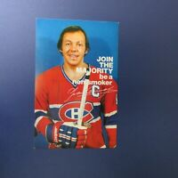 YVAN COURNOYER 1978 postcard BE A NON SMOKER Montreal Canadiens Kent Society