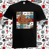 New Chicago Rock Band Logo Cover Men's Black T-Shirt Size S-3XL
