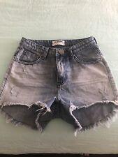 One Teaspoon - High Waisted Bonita Denim Shorts. Size 27.