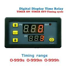DC12V Timing Delay Relay Module Cycle Timer Digital LED Dual Display 0-999h