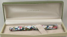 Levenger True Writer Spring Bouquet & Chrome Fountain Pen - Fine Nib - New