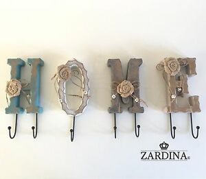 Home - Shabby Chic Decorative Hooks Wall Hanger (Free Postage)