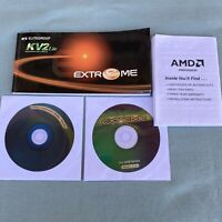 AMD KV2 Lite Extreme PC Motherboard Manual Drivers Software Utility Book Vintage
