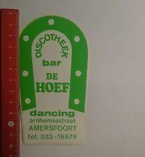 Aufkleber/Sticker: Discothek bar de Hoef dancing (091016170)