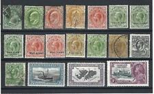 Falkland Islands. Collection of 18 stamps, 1892 to 1935, Mint & Used.