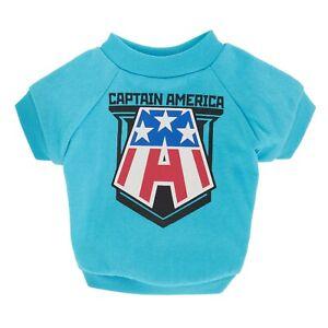 Captain America Dog Shirt - LARGE - Marvel - Avengers - Blue - Retro - NWT