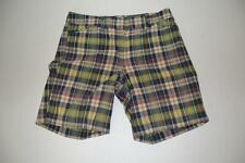 J CREW LOW FIT NAVY BLUE GREEN PLAID SHORTS WOMENS SIZE 6