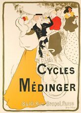 Original Vintage Bicycle Poster - George Bottini - Cycles Medinger - Paris 1897