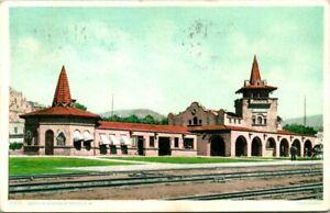 "Antique Postcard  RATON NM  ""SANTA FE STATION""  TRAIN STATION   1909"