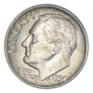 Unc BU MS 1954-D - US Roosevelt 90% Silver Dime Coin Collection Set Break *698