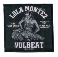 VOLBEAT Woven Patch LOLA MONTEZ gewebter Aufnäher ♫ Hard Rock ♪ Denmark ♫ Elvis