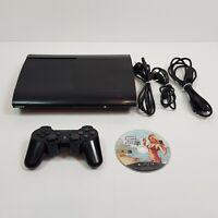 SONY Playstation 3 PS3 Black Super Slim Console 12Gb + Controller + GTA V (5)