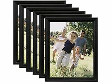 MCS 8-1/2x11 Solid Wood Value Picture Frame Black 6 Pack (Same Shipping Any Qty)