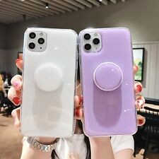 For iPhone 12 11 Pro XS Max XR 8 Bling Kickstand Shockproof Silicone Case Cover