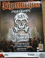 """Red Jumpsuit Apparatus Group Music Poster ~Autographed Signed 24""""x18"""""""