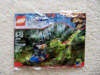 LEGO Jurassic Park Jurassic World - Rare - Gallimimus Trap 30320 - New & Sealed