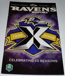 BALTIMORE RAVENS 2005 NFL GAME PROGRAM vs REDSKINS