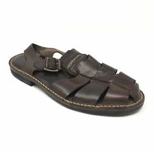Men's VTG Cole Haan Sandals Shoes Size 11D Brown Leather Fisherman Buckle AE8