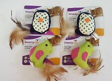 (Set of 4) Smarty Kat Feather Flock Sound Cat Toy With Realistic Bird Sounds
