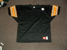 PITTSBURGH STEELERS 1990's BLACK WILSON AUTHENTIC FOOTBALL JERSEY 54/2XL