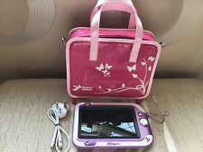 Leapfrog Leappad Ultra Xdi/Large Storage Bag Pink/charger/Shoulder Strap/VGC