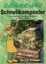 Grüner Jan Schnellkomposter 2 x 2,5 kg Garten Abfälle Verrottungshilfe