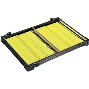 Guru Rive Black Anodised YELLOW Winder Tray / Pole Fishing Seatbox Accessory