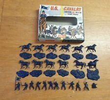 Airfix 1/72 US Cavalry 36 Plastic Figures Full Set 1st Type Window Box