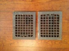 2 Antique Vintage Cast Iron Heat Grates