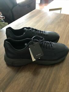Zara Man Cool Max Mens Sneakers/Shoes Size US 15 Leather Navy Blue NWOB