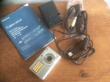 Sony Cyber-shot DSC-S750 Digital Camera Video Silver 7.2 MP & Charger WORKS