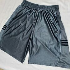 Vintage Rare Adidas Dazzle Basic Basketball Shorts Silver Gray White Large