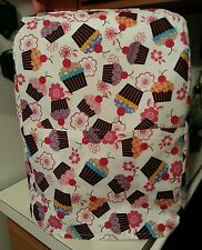 6 Qt- mixer cover white with multicolor cupcakes that fits the kitchen aid