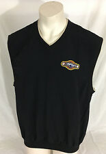 Black Miller Park Milwaukee Brewers Vest V-Neck Antigua Men's Large