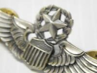 COMMANDER'S VINTAGE STERLING SILVER WWII US ARMY AIRFORCE FLYER WINGS XLNT COND