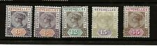 SEYCHELLES (386 )1893 SG22-25 NEW VALUES SET OF 4  VERY FINE MOUNTED MINT 3c X 2