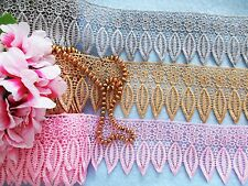 3 colors = Venise lace trim = selling by the yard /select color/