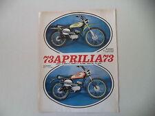 advertising Pubblicità 1973 MOTO APRILIA SCARABEO 50 CROSS