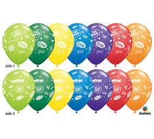 "Congrats Grad Message Latex Balloons, 11"" Graduation Party Decor, Senior College"
