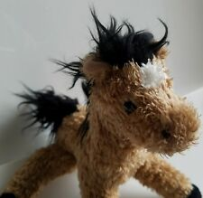 Douglas Cuddle Toy Plush Horse Pony Brown Black Mane Tail White Patch Nose 7.5""