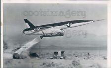 1957 Press Photo US Navy Regulus II Winged Missile Takes Off