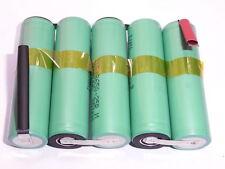 5 batterie lamelle/tabs INR SAMSUNG 18650 25R 2500 mAh 18,5V in serie