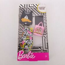 Barbie Looney Tunes Fashion Pack Box Clothes Daffy Bugs Bunny Tweety Taz - New