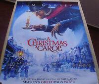 A CHRISTMAS CAROL • 1-Sheet Movie Poster DS • JIM CARREY • DISNEY • 2009 | eBay