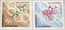 DAHOMEY 1964 239-40 191-92 Olympics Olympia Tokyo Bicycle Running Spr Rings MNH