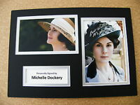 MICHELLE DOCKERY HAND SIGNED AUTOGRAPH A4 PHOTO DISPLAY & COA DOWNTON ABBEY