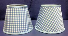 Set 2 Chandelier Gingham Shade Blue Green Pink Purple Red Yellow