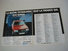 advertising Pubblicità 1984 SEAT RONDA