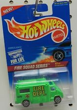 GREEN CHEVY FORD AMBULANCE 10 SPOKE DODGE BOYS 424 FIRE SQUAD SERIES HOT WHEELS
